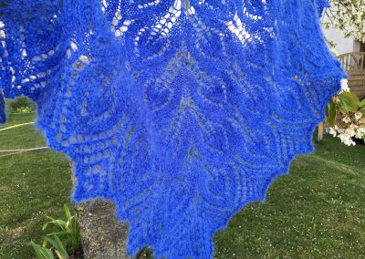 Mohair-Schal in Blau | Stricken | Beeja strickt