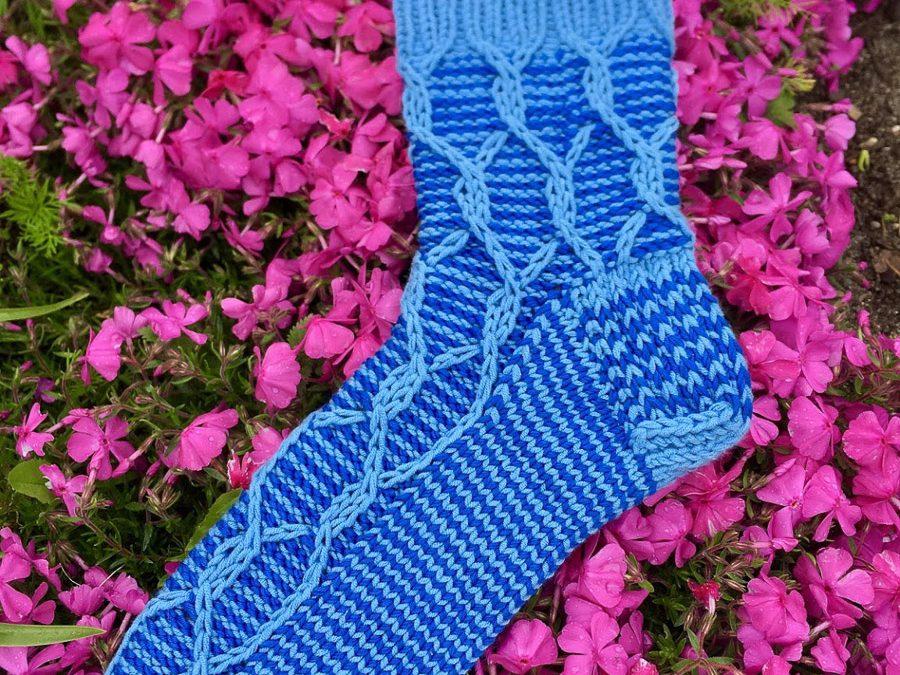 Socken in Blau