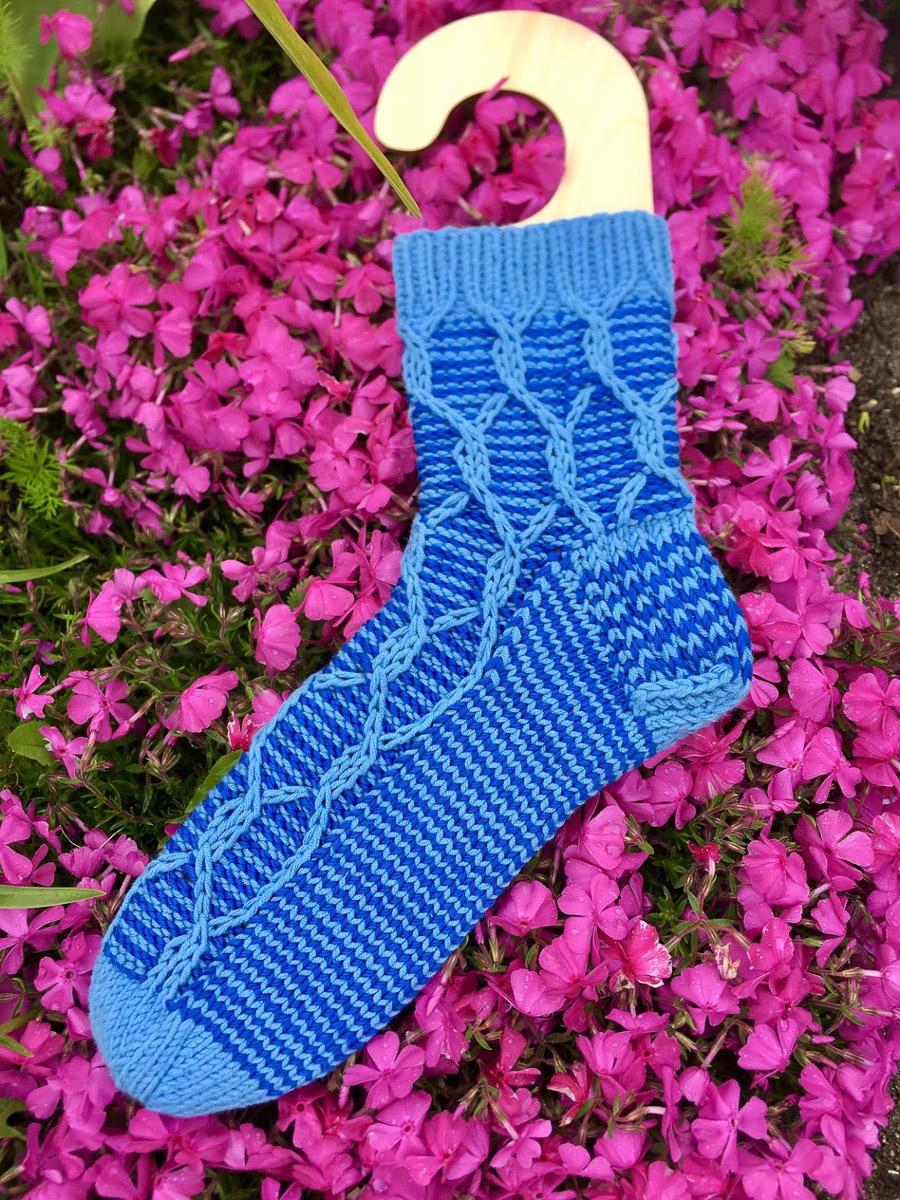 Blaue Socken | Stricken |Beeja strickt