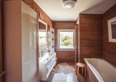 Badezimmer | FeWo HERZENSLUST | Ostsee Ferienwohnungen in Büttelkow
